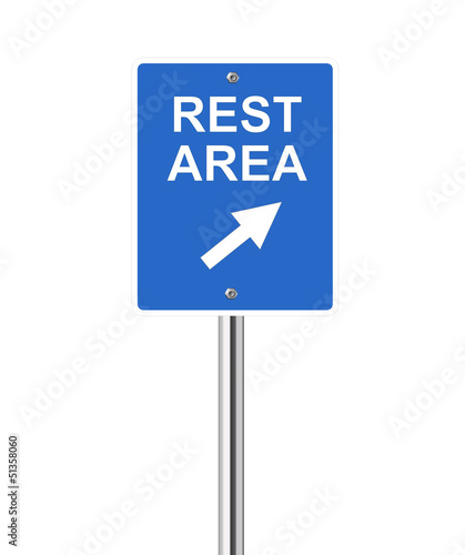 Rest area traffic sign