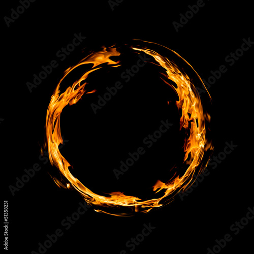 Leinwandbild Motiv Circle of fire