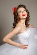 Retro pin-up bride