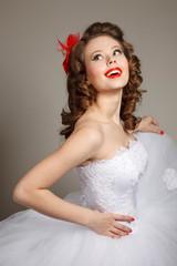 Retro pin-up bride