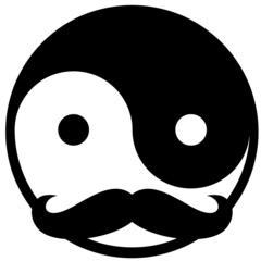 Mustache Yin Yang