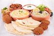 assorted of oriental food, mezze
