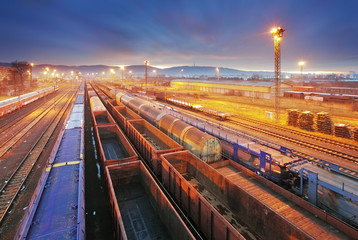 Train Freight transportation - Cargo transit