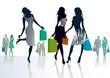 drei Frauen beim Einkaufen
