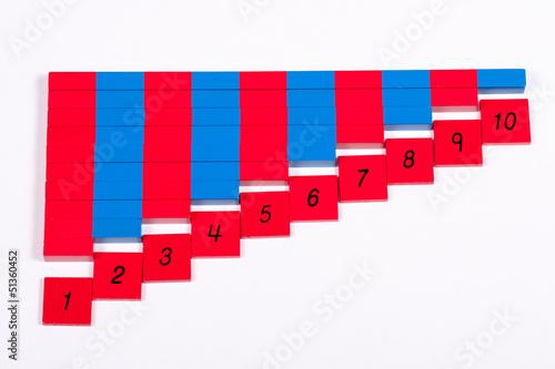 Montessori Number Rods (Educational Material)