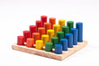 Learning Toy: Bright Different Cylinders on Base