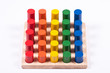 Early Learning Toy: Cylinders of Different Colors