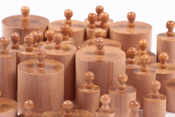 Wooden Knobbed Cylinders Montessori