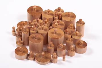 Knobbed Montessori Cylinders
