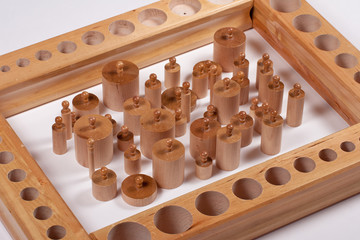 Sensory Learning Material: Montessori Cylinders