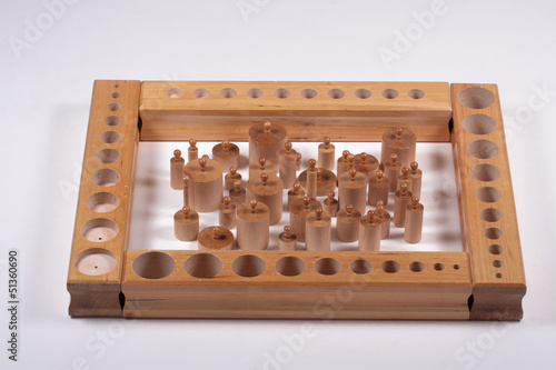 Montessori School Supplies: Wooden Cylinders