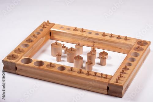 Montessori Sensory Material: Knobbed Cylinders