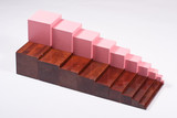 Montessori Learning Materials: Brown Stairs and Pink Tower