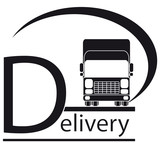 icon with delivery symbol - truck and place for text