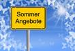 Schild Sommerangebote