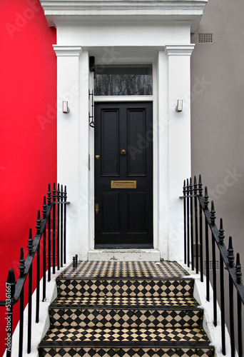 Black doorway