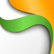 Abstract green and orange paper background