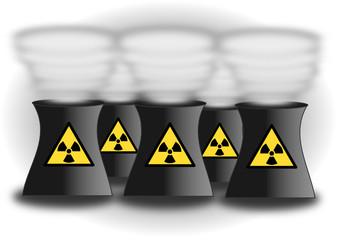 Champ de centrales nucléaires
