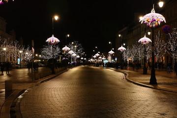 Varsavia mentre Natale - Polonia
