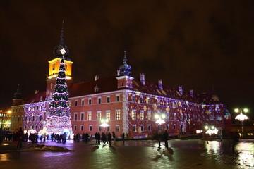 Palazzo reale mentre Natale - Varsavia, Polonia