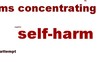 Self-harm mental health symbol