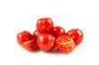 cherry tomatoes.  fresh tomatoes on white background. red tomato