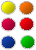 set of circle color icons