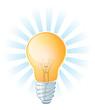 Glowing Lightbulb Illustration