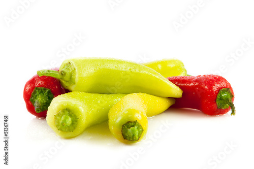 Paprika (pepper) isolated on a white background