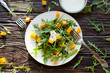 salad with roasted pumpkin, arugula, and yogurt