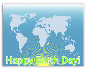 Earth Day greeting card.