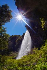 Waterfall Saltillo, national park Lanin, Patagonia, Argentina