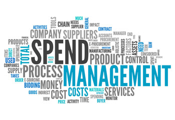 "Word Cloud ""Spend Management"""