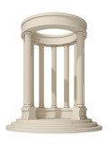 rotunda on a white background
