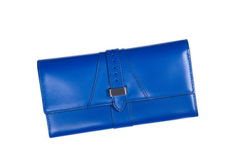blue women clutch isolated on a white background