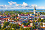 Fototapety Aerial panorama of Tallinn, Estonia
