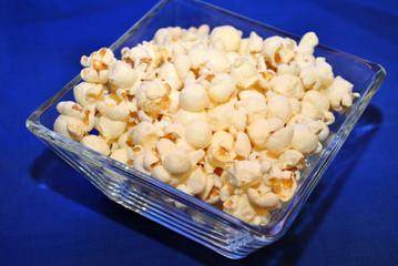 Delicious Popcorn on Blue