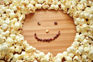Happy Face of Popcorn