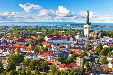 Aerial panorama of Tallinn, Estonia