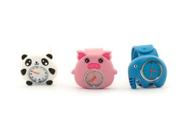 детские часы панда свинья слон