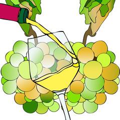 Uva e Vino Bianco