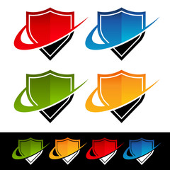 Swoosh Shield Icons