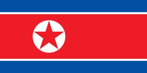 Drapeau de la Coree du Nord