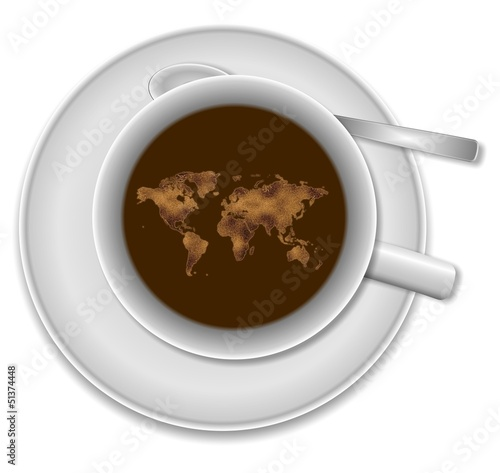 World in a cup of coffee