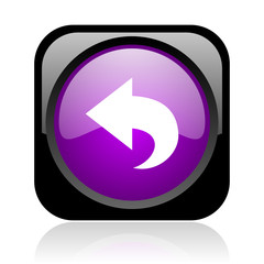 back black and violet square web glossy icon