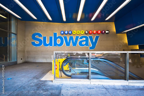 New York City Subway in Midtown