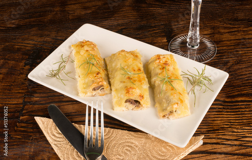 Portion of cannelloni
