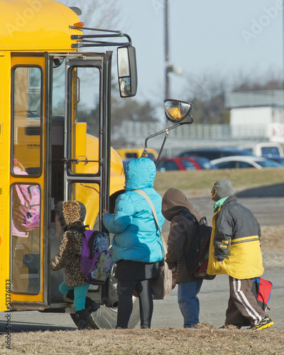 Children at the bus stop