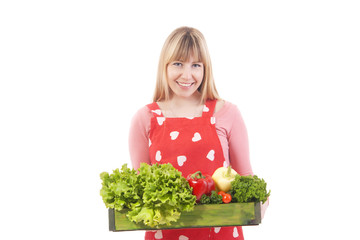 pretty girl with vegetables