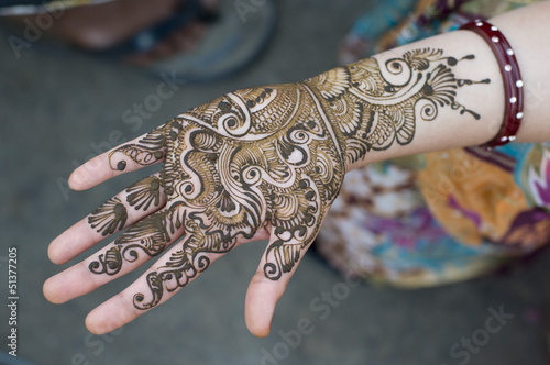 henna decoration on the streets,Jaipur,Rajasthan,India